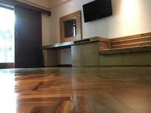 Padma Hotel Legian Mockup Room using BONA Mega Gloss Finish (after finishing)